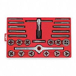 Tap and Die Set, Carbon Steel, 25 Pcs