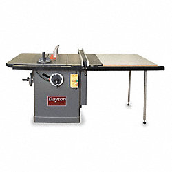 Cabinet Table Saw, 10 In Bld, 5/8 In Arbor