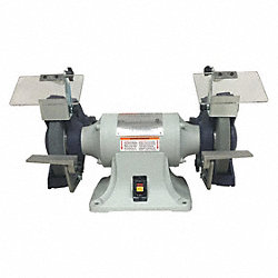 Bench Grinder, 10 In, 1 HP, 115 V, 10 A