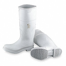 Knee Boots, Men, 9, Steel Toe, White, 1PR