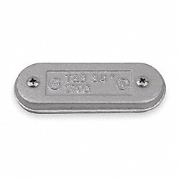 Conduit Body Cover, 1 1/4 In, Clip On