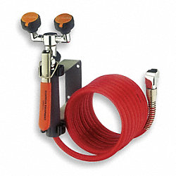 Dual Head Drench Hose, Wall Mount, 12 ft.