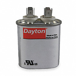 Run Capacitor, 25 MFD, 370 VAC, Oval
