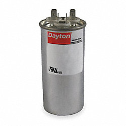 Run Capacitor, 40/7.5 MFD, 370 VAC, Round