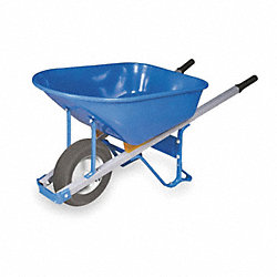 Wheelbarrow, Steel, 6 Cu. Ft., Flat Free