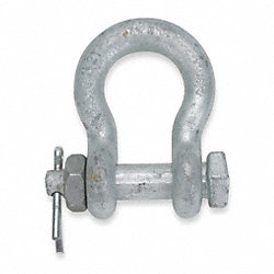 Safety Pin Shackle, Body, 42000Lb, 1 3/8In