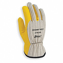 Chore Gloves, Poly/Cotton, M, Yellow, PR