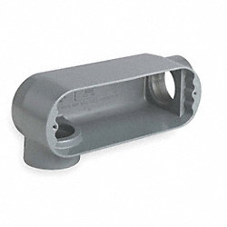 Conduit Body, LR, 1/2 In, Malleable Iron