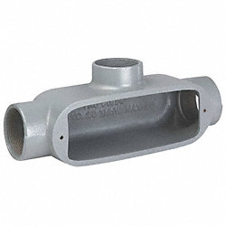 Conduit Body, T, 1/2 In, Malleable Iron