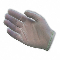 Inspection Glove, White, 9 In. L, M, PK 12