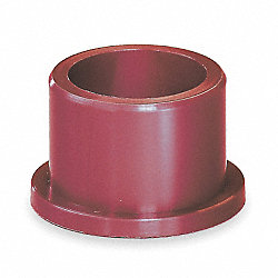 Flanged Bearing, 3/8 IDx3/4 In L, Pk 5