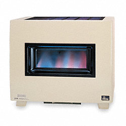 Gas Fired Room Heater, 34 In. W, 20 In. D