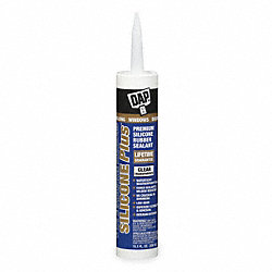 Sealant, Silicone, Clear, 10.1 Oz