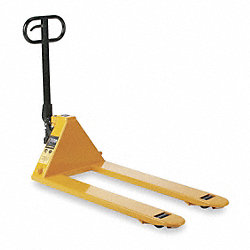 Pallet Jack, Yellow, Hydraulic, Nylon
