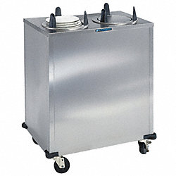 Plate Dispenser Cart, Stainless, 35x20x39