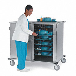 Tray Delivery Cart, Stainless, 31x22x70