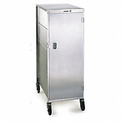 Tray Delivery Cart, Stainless, 25x17x47