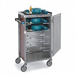 Tray Delivery Cart, Stainless, 24x45x61