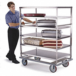 Banquet Cart, Stainless, 4 Shelves, 46x28