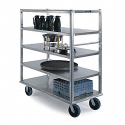 Banquet Cart, Aluminum, 5 Shelves, 73x27