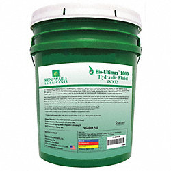 Hydraulic Oil, Bio, Ultimax 1000, 5 Gal, 32