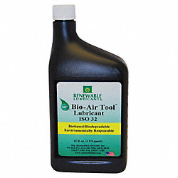 Air Tool Lube, ISO 32 Biodegradable, 32 oz