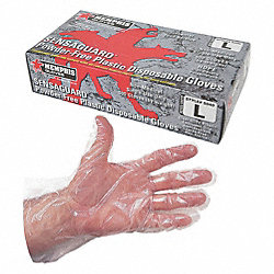 Disp. Gloves, Polyethylene, M, Clear, PK500