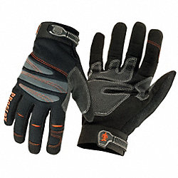 Anti-Vibration Mechanics Gloves, L, Blk, PR