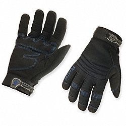 Cold Protection Gloves, M, Black, PR