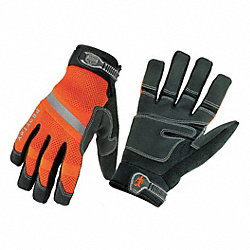 Cold Protection Gloves, XL, Orng/Blk, PR