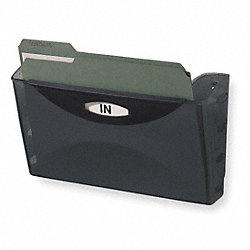 Wall File, Letter, Black, 1 Pocket