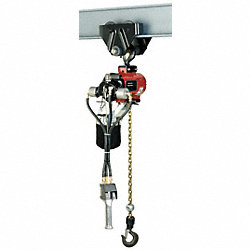 Air Chain Hoist, 4400 lb. Cap., 10 ft. Lft