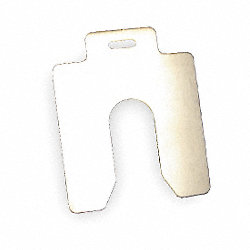 Slotted Shim, B-3x3 Inx0.125In, Pk 5