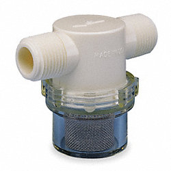 Line Strainer, Low Profile, 1/4 In MNPT