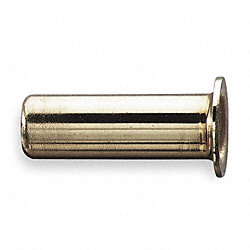 Insert, 3/8 In, Tube, Brass, PK 10