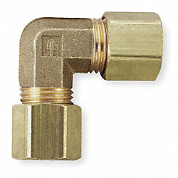 Union Elbow, 1/2 In, Tube, Brass, PK 10