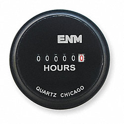 Hour Meter, Electrical, 2.31 In, Round