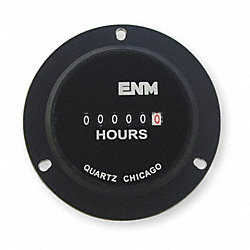 Hour Meter, Electrical, 2.8In, 3-Hole Round
