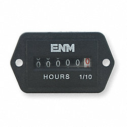 Hour Meter, Electrical, 2-Hole Rectangular