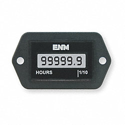 Hour Meter, LCD, 2-Hole Rectangular