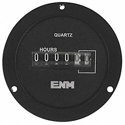 Hour Meter, Electrical, 2.68In, 3Hole Round