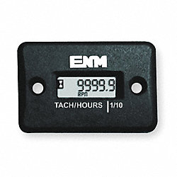 Hour Meter, LCD, Surface Mount Rectangular