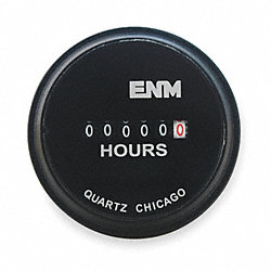 Hour Meter, Electrical, 2.31In, Flush Round