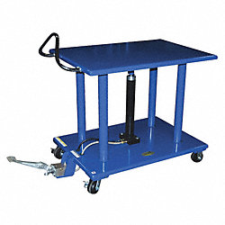 Scissor Lift Cart, 4000 lb., Steel, Fixed