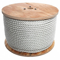 Rope, Nylon, Twisted, 5/8 In. dia., 300 ft L