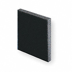 Filter Mat, Open Cell, Polyurethane, PK 3