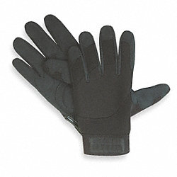 Mechanics Gloves, Gel Palm, Blk, M, PR