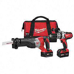 Cordless Combination Kit, 2.8A/hr., 18.0V