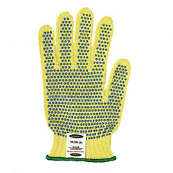 Cut Resistant Gloves, Yellow/Blue, M, PR