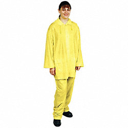 3 Piece Rainsuit w/Detach Hood, Ylw, XL